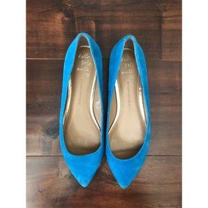 BANANA REPUBLIC Blue Angela Suede Flats Sz 9